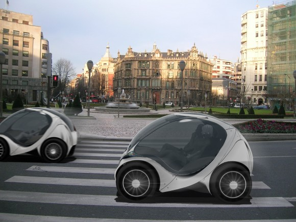 Elektromobil Hiriko pochází z Baskicka, severní autonomní oblasti Španělska. V plánu je vyrábět až 15 000 kusů tohot elektrického auta ročně, foto: Hiriko