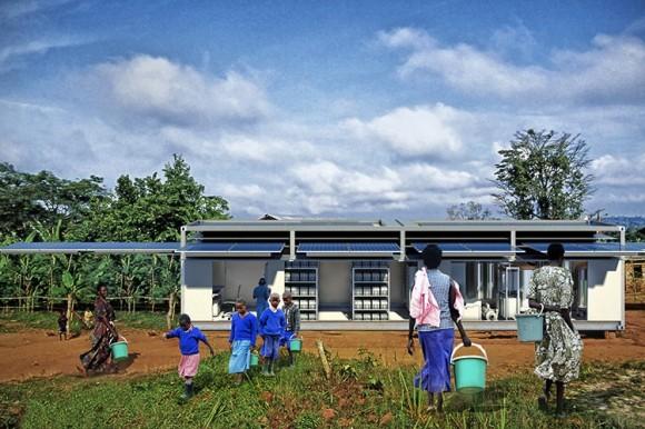 Mobilní solární zdroj PowerCube najde využití mimo jiné i v odlehlých vesnicích, kde není přístup k rozvodné síti. foto: Ecosphere Technologies