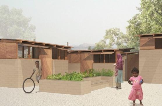 Hybrid House levný dům bydlení Indie