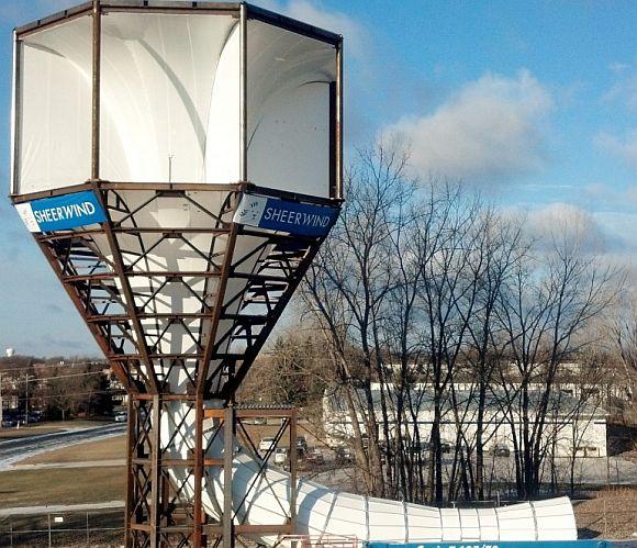 Nový typ větrné elektrárny od společnost SheerWind, foto: SheerWind