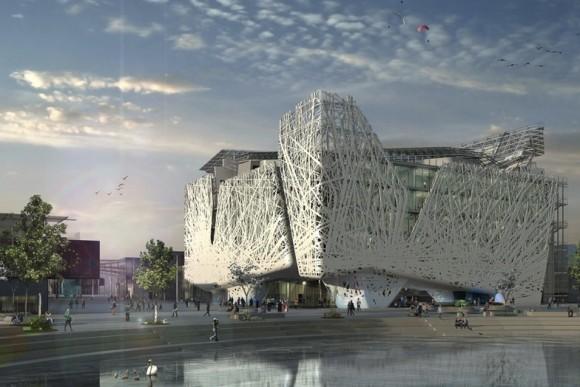 Italské studio Nemesi&Partners navrhlo novou budovu pro milánské výstaviště. Výjimečná je fasáda, která čistí ovzduší. foto: Nemesi&Partners