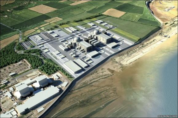 Navrhovaná podoba jaderné elektrárny Hinkley Point C společnosti EDF Energy v Británii, foto: EDF Energy