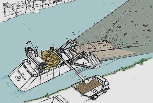Čistící bárka v představě Jamese Dysona. foto: James Dyson