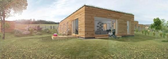 Nízkoenergetický bungalov v Jílovém u Prahy. foto: Direkt Development