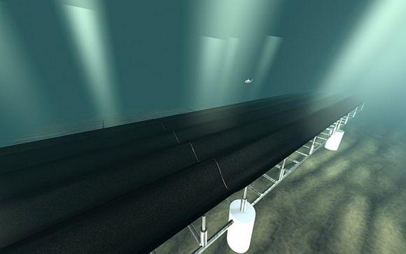 Počítačová animace přímořské kobercové elektrárny