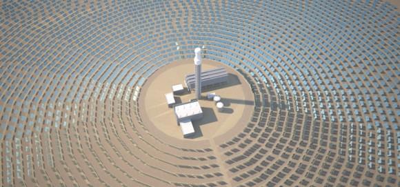 Jeden výrobní blok uvažované koncentrační solární elektrárny TuNur