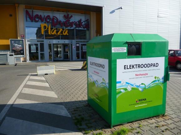 Kontejnery na elektroodpad jsou v České republice čím dál tím rozšířenější. foto: REMA Systém