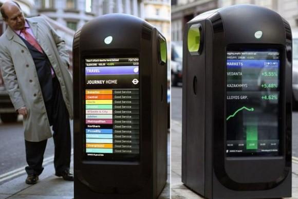 Na moderní odpadkové koše si Londýńané zatím zvykají jen pomalu. Zdroj: Designbuzz.com