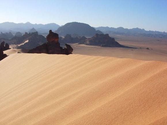 Libye je jen slunce a písek. Potenciál pro výrobu elektřiny z OZE však obrovský. Zdroj: Roberdan, Wiki commons, licence Creative Commons