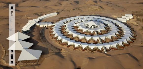 Lotos Hotel v poušti Gobi, foto: PLaT Architects