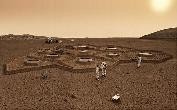 Kolonie lidí na Marsu