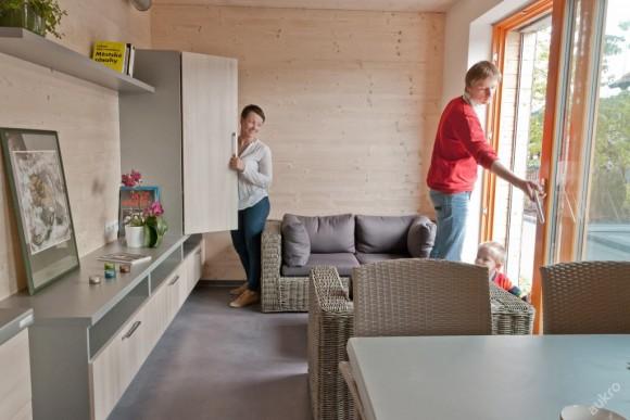 Dražba moderního mobilního pasivního domu probíhá na Aukro.cz, foto: Centrum pasivního domu