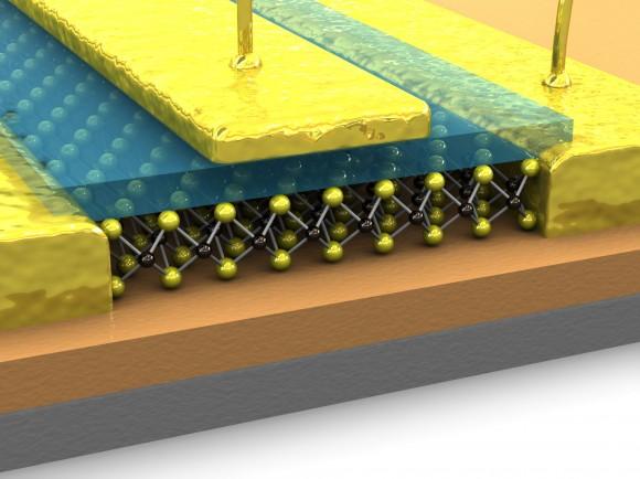MoS2 - molybdenit jako materiál budoucnosti, který v počítačových čipech nahradí křemík? foto: LANES