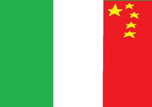 Čínské peníze a italská práce na řeckém projektu. Skutečně odvážná kombinace. Zdroj: toonpool.com