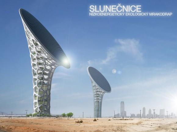 Nízkoenergetický solární mrakodrap Slunečnice. foto: Petr Pospíšil, KYZLINK architects