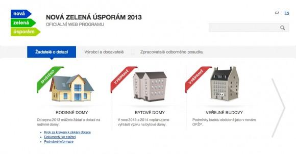 Nová zelená úsporám 2013 má vlastní webové stránky s adresou www.nzu2013.cz, foto: NZU2013.cz