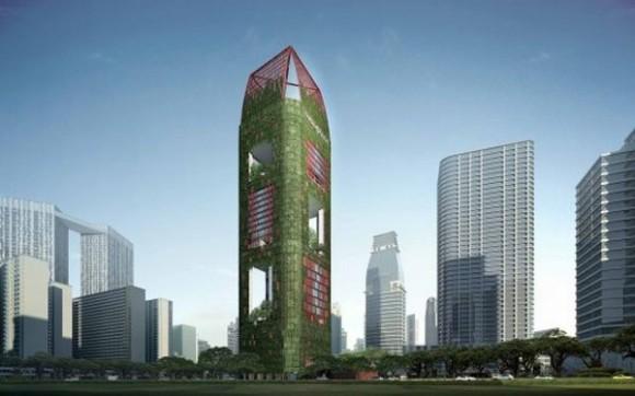 Zelený smaragd v srdci Singapuru, aneb návrat přírody mezi mrakodrapy. Zdroj: Inhabitat.com