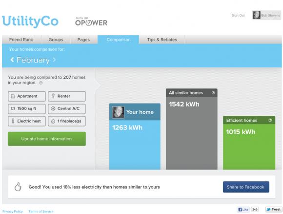 Energetická sociální síť OPOWER, foto: OPOWER