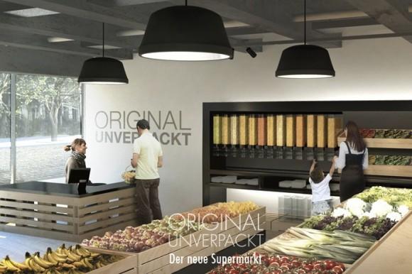 Nový německý supermarket Original Unverpackt bude prodávat potraviny bez obalů. foto: Original Unverpackt