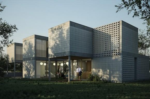 Modulární rodinný dům od Tatiany Bilbao, jehož plány budou na webu k dispozici zdarma ke stažení. foto: Paperhouses