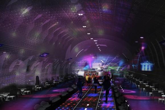 I takhle by podle představ architektů mohla v budoucnosti vypadat dnes opuštěná podzemní stanice metra Arsenal v Paříži. foto: OXO ARCHITECTES + LAISNÉ ARCHITECTE