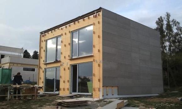Stavba pasivního domu v Březové - Oleško, foto: Centrum pasivního domu