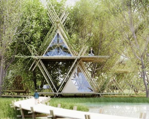 """""""Modelové struktury postavené na stejném principu lze využít při budování turistických ubytoven, nebo tvorbě nouzového náhradního bydlení."""" Zdroj: home-of-penda.com"""