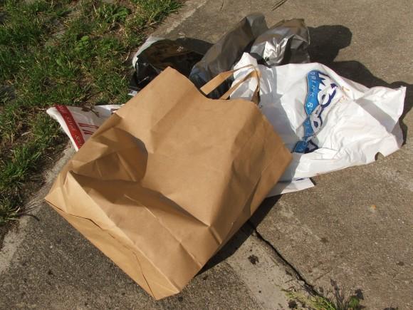 Plastové tašky a pytle mají v Los Angeles utrum, nastupuje papír. foto: Jan Horčík/Ekologické bydlení
