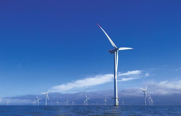 Pobřežní větrná farma - turbíny Vestas, Dánsko, foto: Vestas
