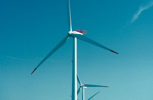 Pobřežní větrné turbíny značky Vestas v Dánsku, foto: Vestas