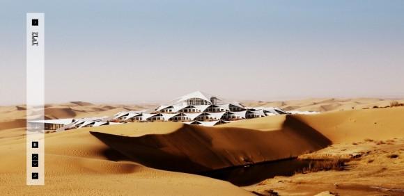 Lotos Hotel - hotel uprostřed pouště, foto: PLaT Architecs