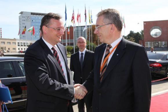 Předseda vlády Petr Nečas se v pondělí 10. září 2012 zúčastnil Sněmu Svazu průmyslu a dopravy v Brně, foto: vlada.cz