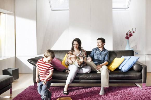V aktivním domě je příjemné a ekonomické žít, jak si tato rodina mohla na vlastní kůži vyzkoušet. foto: Velux