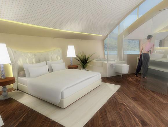 Solární ostrov designérky Michele Puzzolante pokrytý solárními panely