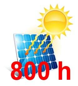 slunce v našich podmínkách bude na panel svítit 800 hodin