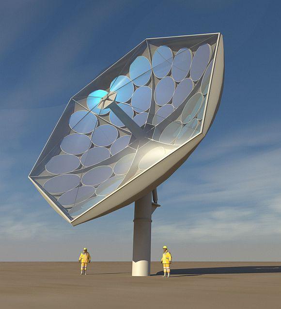 Solární elektrárna HCPVT v Curychu