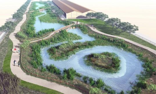 Umělý mokřad nebude nikdy tak účinný v čištění vody, jako přírodní. Zdroj: Inhabitat.com