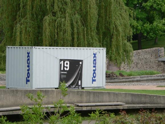 Sportovní kontejner v parku Chojkovy lomy v Plzni, foto: archiv autora