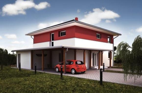 Takhle vypadá moderní pasivní dům. Vizualizace www.projektydomu.cz