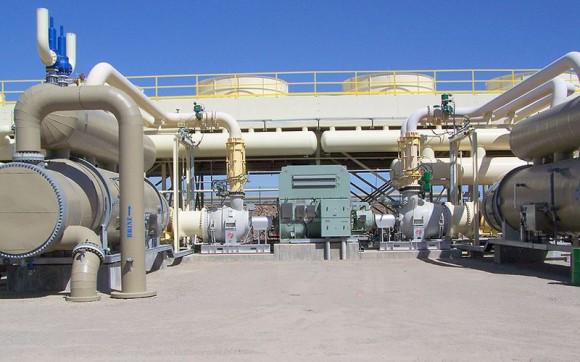Stillwater - projekt hybridní geotermální solární elektrárny v USA, Nevada, foto: Harry Reid