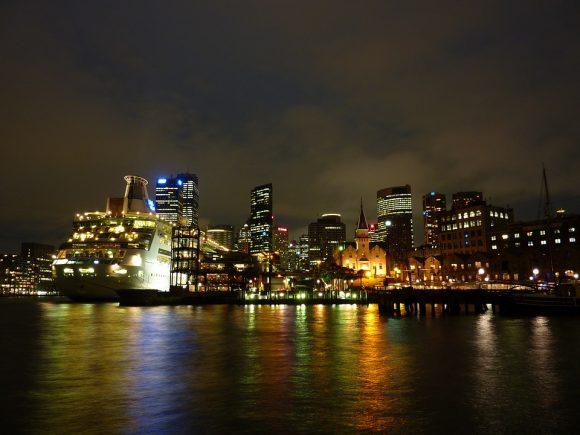 Zářící australská metropole Sydney. foto: MartinStr, licence public domain