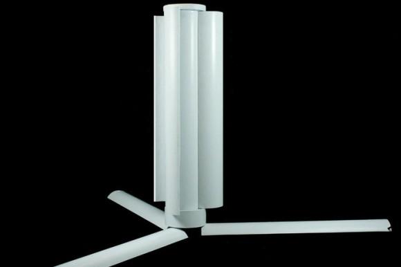 Prototyp přenosné větrné turbíny Trinity. foto: Einar Agustsson a Agust Agustsson
