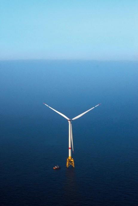 Turbína Haliade v Severním moři. foto: GE