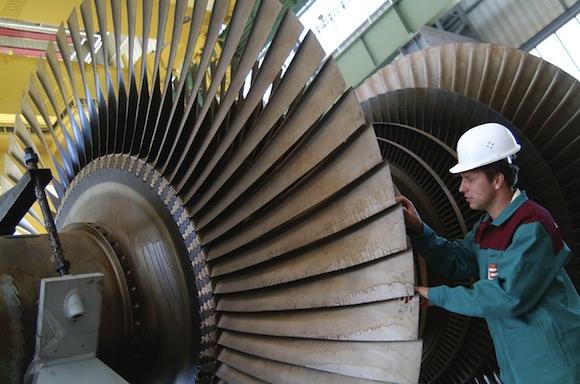 turbína jaderná elektrárna