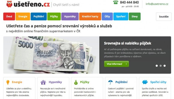 Služba Ušetřeno.cz vám pomůže srovnat nejen dodavatele plynu a elektřiny, ale i poskytovatele řady dalších služeb - např. hypoték nebo spořících účtů