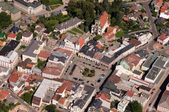 Město Ústí nad Orlicí v leteckém pohledu, foto: Městský úřad Ústí nad Orlicí