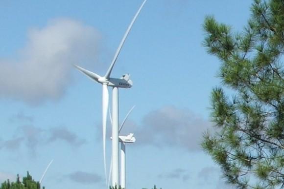 Větrná elektrárna a její turbína v Portugalsku, foto. Ekobydlení.eu