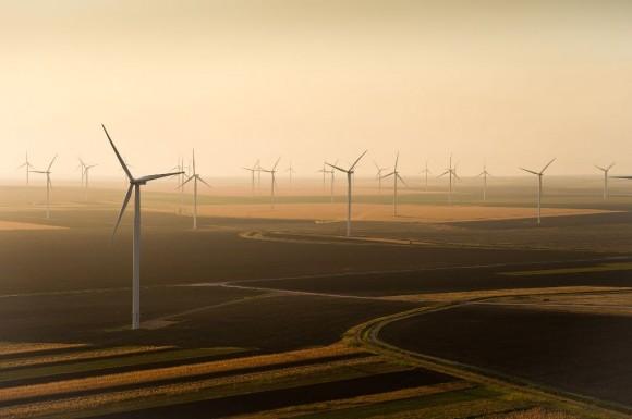 240 turbín větrného parku Fantanele a Cogealac v Rumunsku, foto: ČEZ