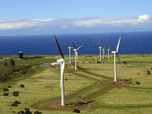Již dokončená 30MW větrná farma Kahuku na ostrově Oahu, foto: First Wind