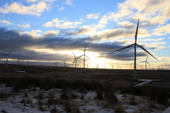 Větrná farma Whitelee s výkonem 539 MW ve Skotsku, foto: Whitelee Wind Farm/SPR